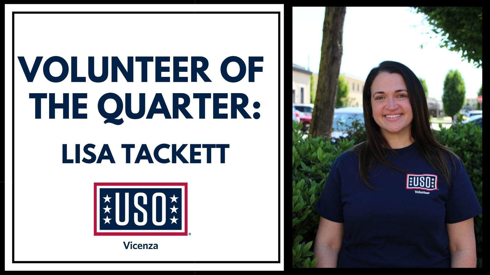 Volunteer of the Quarter for Summer 2019 - Lisa Tackett